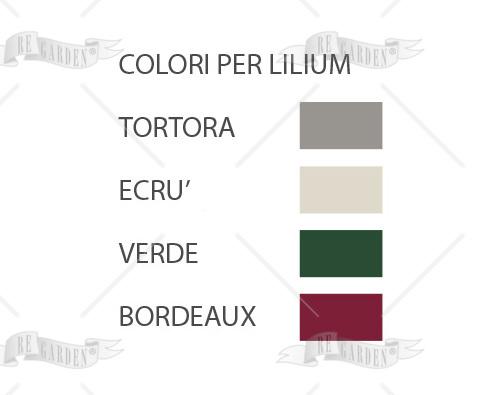 Lilium - Poltrona pieghevole bordeaux - 2